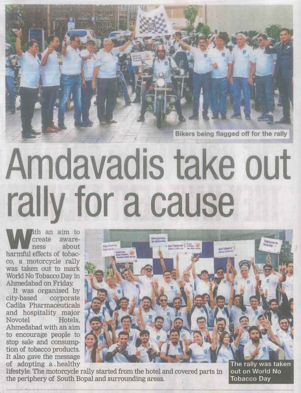 World No Tobacco Day  Bike Rally 2019 Coverage News 4 Image