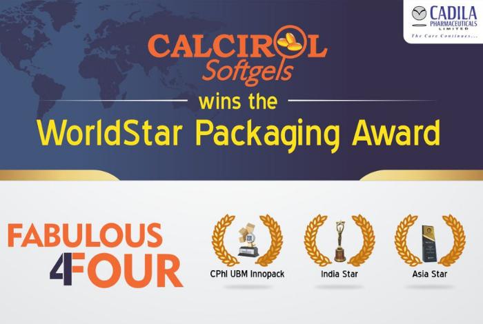 Cadila's Calcirol wins WorldStar Packaging Award