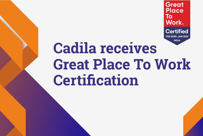 Cadila Pharma, Great Place To Work Certified (GPTW)