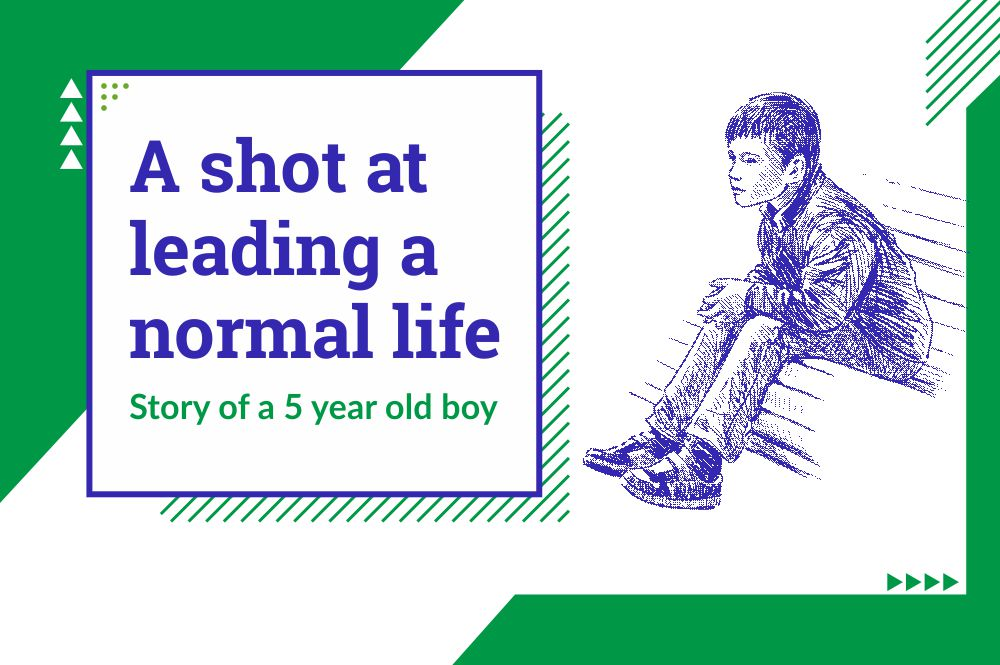 A shot at leading a normal life – Story of a boy treated in Kaka-Ba hospital