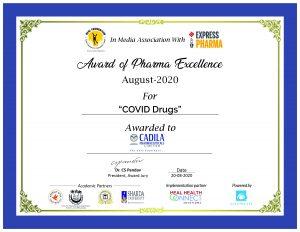 Cadila Pharmaceuticals, Sepsivac, Pharmaceuticals, Pharma Excellence Award