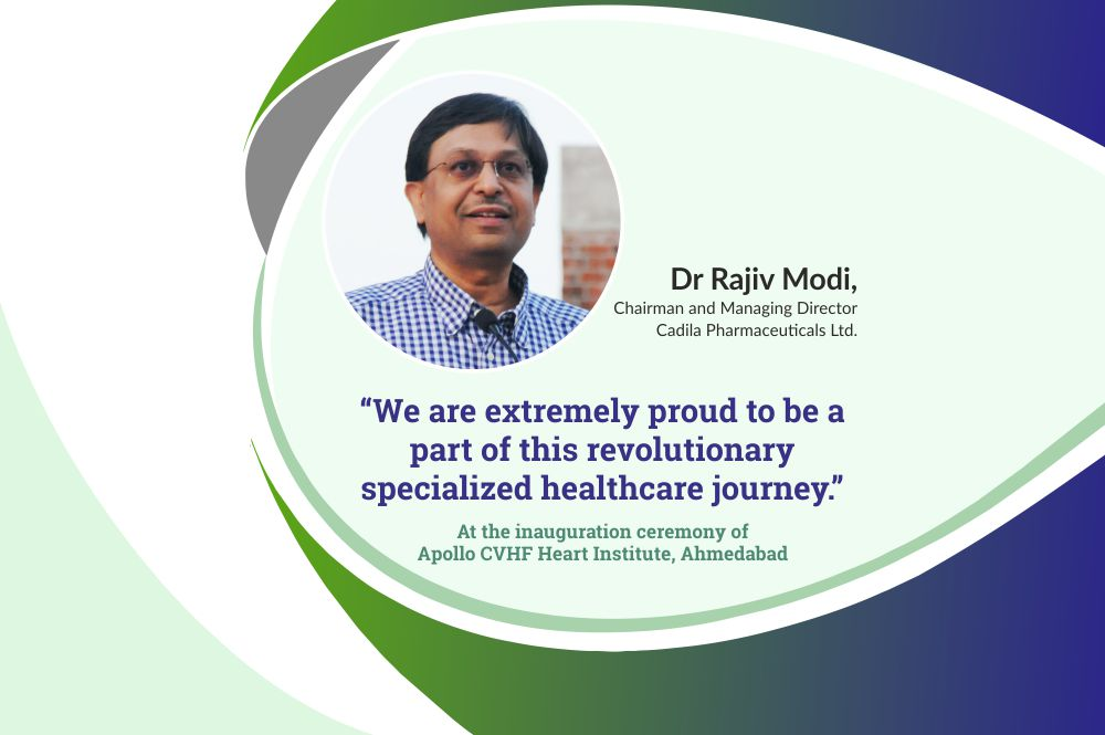 Cadila Pharmaceuticals Chairman and Managing Director, Dr Rajiv Modi at the inauguration ceremony of Apollo Hospital Ahmedabad