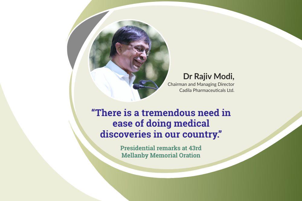 Dr Rajiv Modi, CMD, Cadila Pharmaceuticals at 43rd Mellanby Memorial Oration