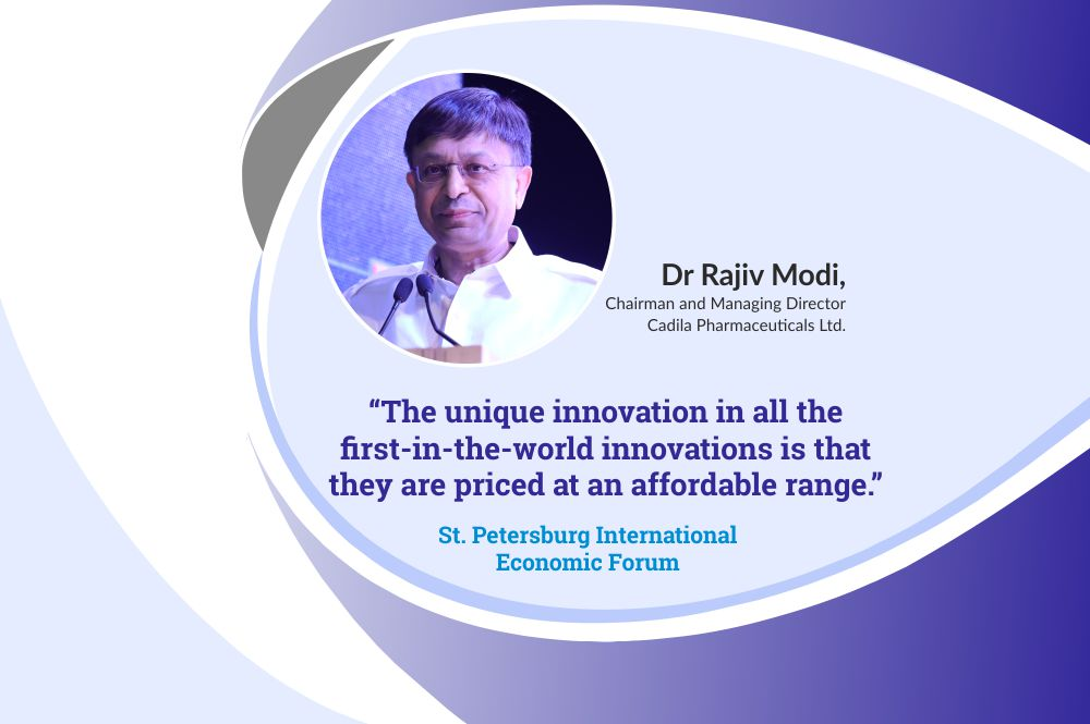 Dr Rajiv Modi, Chairman and Managing Director, Cadila Pharmaceuticals at the St. Petersburg International Economic Forum