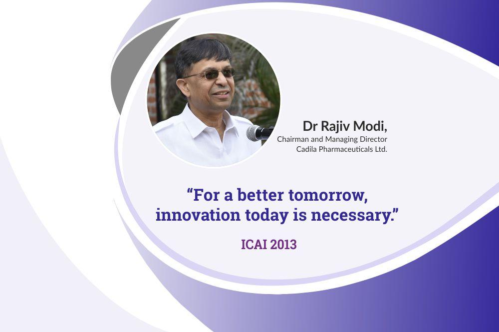 Importance of education for industry – Dr Rajiv Modi, CMD, Cadila Pharmaceuticals at ICAI 2013