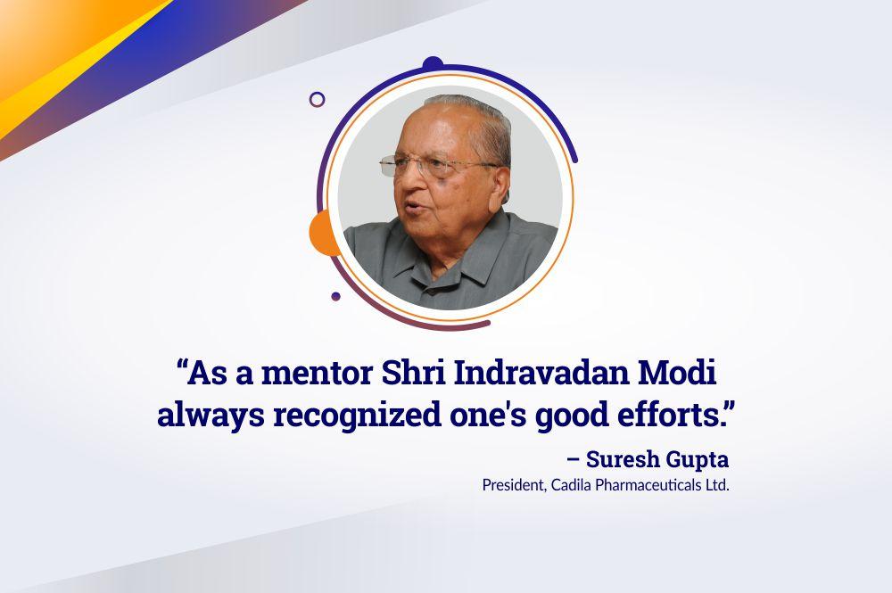 Proud to Have Had a Mentor like Shri Indravadan Ambalal Modi