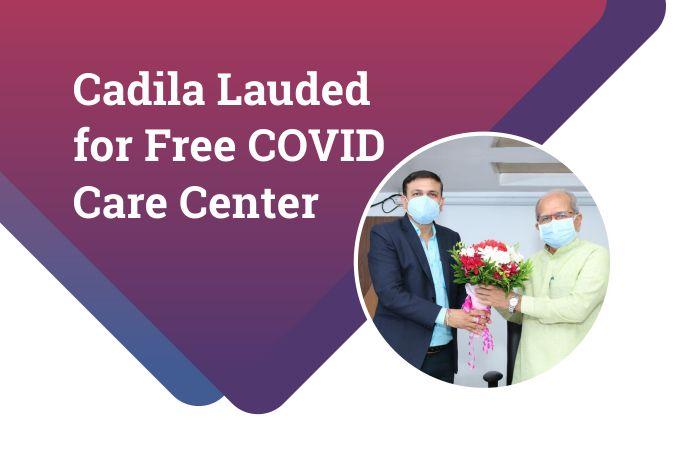 Education minister felicitates Cadila Pharma's COVID warriors